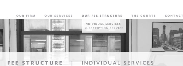Our Fee Structure: Individual Services