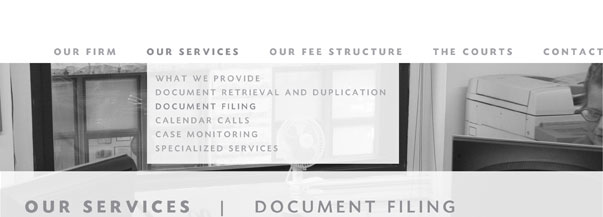 Our Services: Document Filing