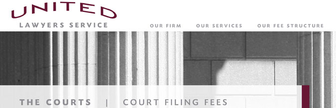 The Courts: Court Filing Fees